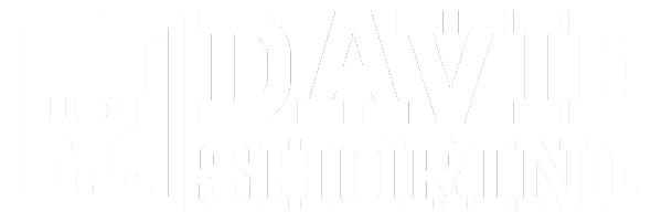 davie shoring white logo