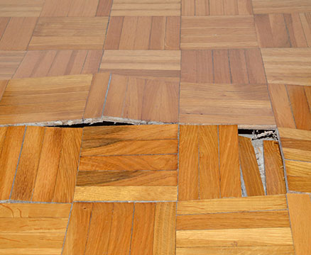 sagging floor